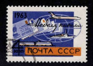 Russia Scott 2783 letter writing week stamp Used