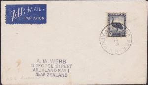 PAPUA NEW GUINEA 1948 cover Australia 5½d RELIEF No.6 cds used KEREMA.......2129