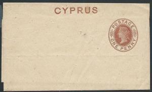 CYPRUS QV 1d newspaper wrapper unused......................................46902
