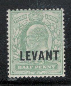 Great Britain Offices Turkish Empire 1905 Overprint 1/2p Scott # 15 MH