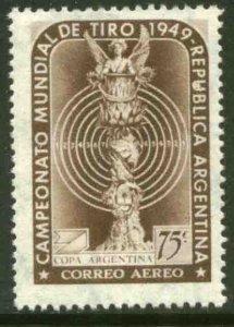 ARGENTINA C58, WORLD RIFLE CHAMPIONSHIPS, 1949. MINT, NH. VF.