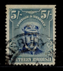 NORTHERN RHODESIA GV SG14, 5s slate-grey and violet, USED. Cat £170.