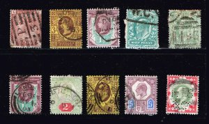 UK STAMPS OLD USED STAMP COLLECTION LOT