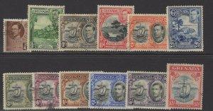 GRENADA SG152/63e 1937-50 DEFINITIVE SET FINE USED