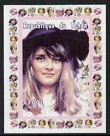 Chad 1997 Princess Diana 300f series #1 imperf deluxe she...