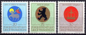 Liechtenstein. 1970. 533-35. Coats of arms. MNH.