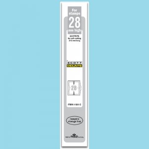 Scott Mounts Clear,  28mm Strip 215 (pak 22) (00924C)*
