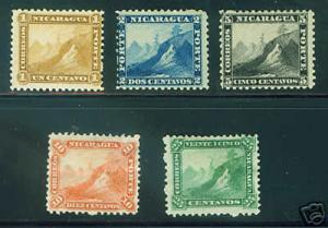 Nicaragua Scott 3-7 Mint set CV $72.50