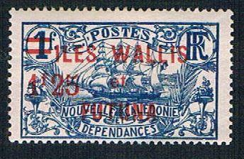 Wallis and Futuna 38 MLH New Caledonia overprint  (BP10028)