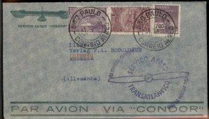 Brazil 1933 Graf Zeppelin Germany Si216A 2.SAF Cover 97429