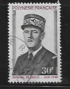 FR. POLYNESIA 270 USED DE GAULLE TYPE ISSUE 1971