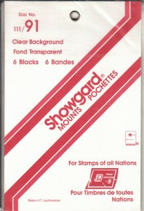 SHOWGARD 111/91 (6) CLEAR MOUNTS RETAIL PRICE $5.50