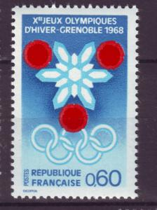 J9840 JL stamps 1967 france set1 mnh #1176 olympics