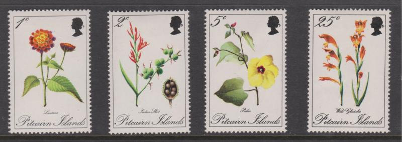 Pitcairn Islands 1970 Flowers Set Sc#110-113 Mint