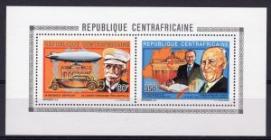 Central African 1992 Mi#1461/1464 Zeppelin-Adenauer Compound S/S Perforated MNH