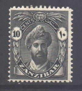 Zanzibar Scott 202 - SG311, 1936 Sultan 10c MH*