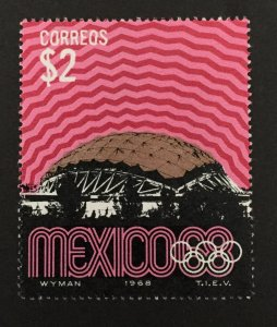 Mexico 1968 #999, Tele Communications Tower, MNH.