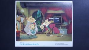 Disney - Grenadines of St. Vincent 1992. - The Great Mouse ** MNH Block/2
