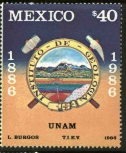 MEXICO 1438, NATIONAL GEOLOGY INSTITUTE CENTENNIAL. MINT, NH. F-VF.