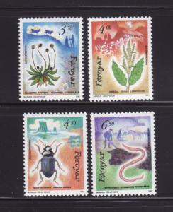 Faroe Islands 216-219 Set MNH Flora and Fauna