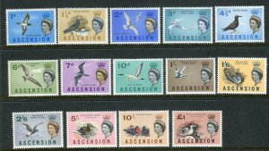 ASCENSION-1963 Birds.  An unmounted mint set Sg 70-83