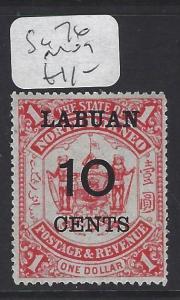 LABUAN  (P1209B)  10C/$1.00      SG 76   MOG