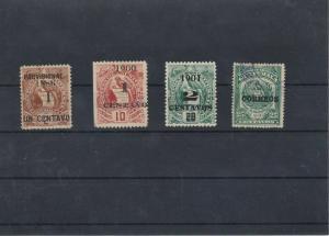 Guatemala 1901 Overprint Stamps Ref: R5325