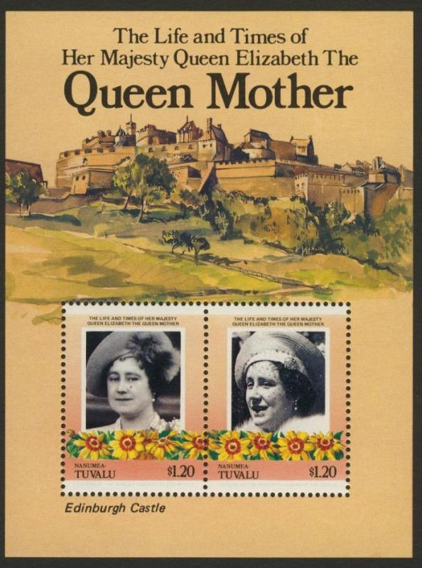 Tuvalu Nanumea 45 MNH The Queen Mother, Flowers