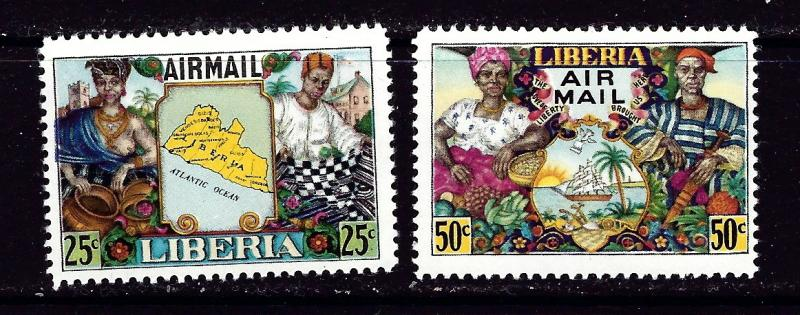 Liberia C63-64 Hinged 1949 set