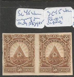 Honduras SC 48 Imperf Pair MOG (8cqq)