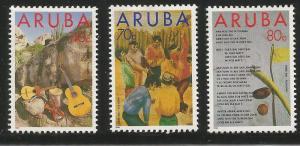 ARUBA  92-94  MINT HINGED, FOLKLORE