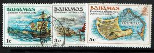 Bahamas SC# 464-466, Used, Torn Upper Left Perf #466 - Lot 021217