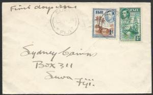 FIJI 1938 GVI ½d & 1d on FDC, Suva cds.....................................25505