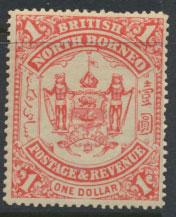 North Borneo  SG 47 MH Scarlet  please see scans & details