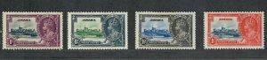 Jamaica Sc#109-112 M/H/VF, Silver Jubilee, Cv. $17