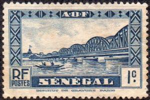 Senegal 142 - Unused-NG - 1c Fraidherbe Bridge (1935)