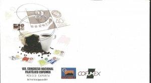 J) 2014 MEXICO, FIRST PHILATELIC NATIONAL CONGRESS COFUMEX, MEXICO EXPORTS, COFF