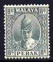 Malaya - Perak 1938-41 Sultan 8c grey mounted mint SG110