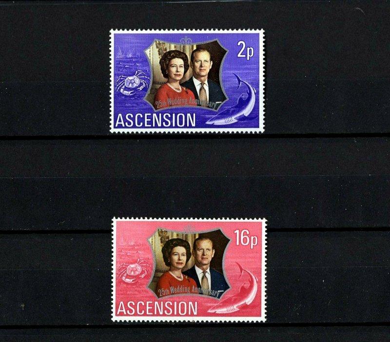 ASCENSION - 1972 - QE II - SILVER WEDDING ISSUE - MINT - MNH - SET!