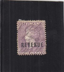 St. Vincent Revenue Tax Stamp, 1p, Sc #15 (24902)