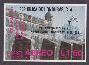 Honduras # C782, French Revolution Bicentennial, Souvenir Sheet, NH, 1/2 Cat.