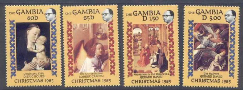 Gambia 594-8 MNH Christmas, Art, Painting