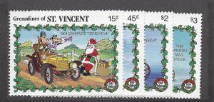St. Vincent (Gren), 677-78,680-81, Disney Singles,**MNH**