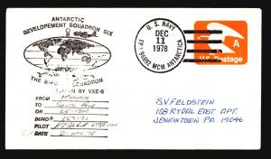 US 1979 McMurdo to South Pole Sntarctic Flight Cover - Z15593