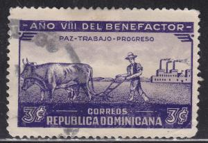 Dominican Rep 329 Used 1937 Peace, Labor and Progress