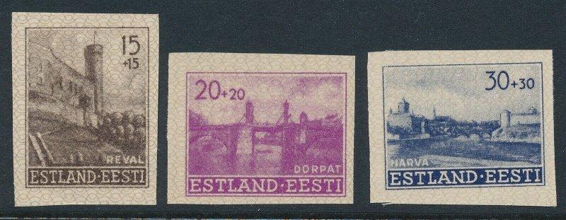 Stamp Germany Estland WWII 3rd Reich Occupation Estonia Imperf Set MNG