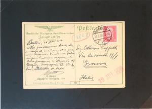 Germany 1930 Military Postcard Used / Tiny Bottom Tear - Z2941