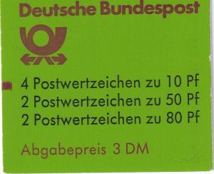 Germany #1231c Complete Booklet CV $6.00 (A19952)