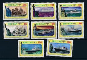 [81278] Bhutan 1986 Ships Boats Shalom Libertad QEII Statue of Liberty MNH