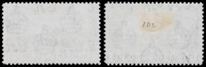 Falkland Islands Scott 101-102 (1949) Mint LH-H VF, CV $10.25 B